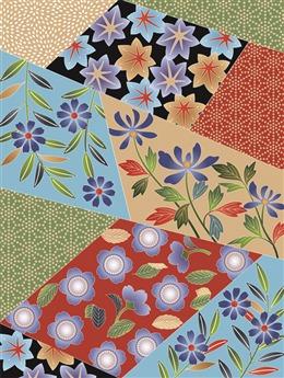 日式和风花纹背景