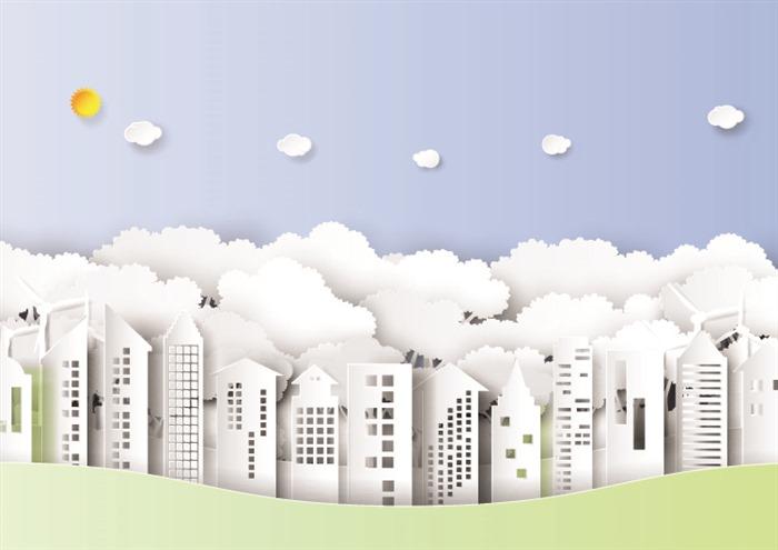 低碳主题海报背景