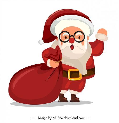 手绘卡通圣诞老人插画