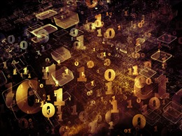金色数字科技背景图