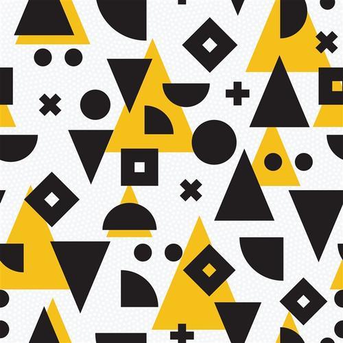 黄白拼接几何背景