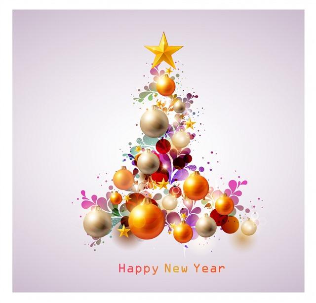 圣诞节装饰球体元素