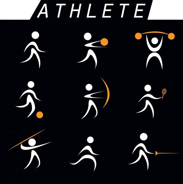 运动员姿势图标