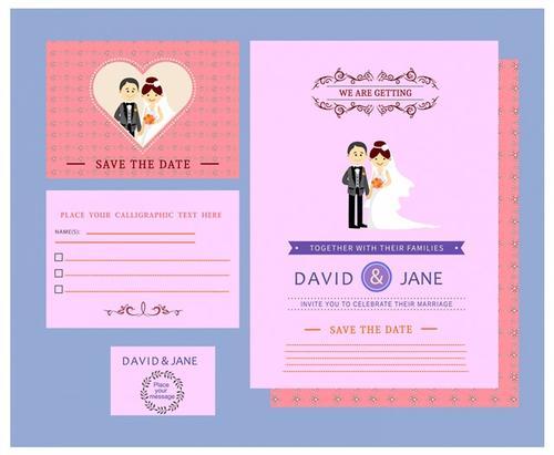 电子版卡通结婚邀请函