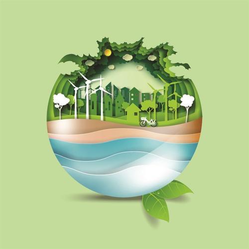 卡通ppt保护环境背景