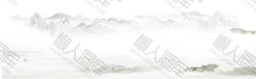 禅意山水水墨画背景图片