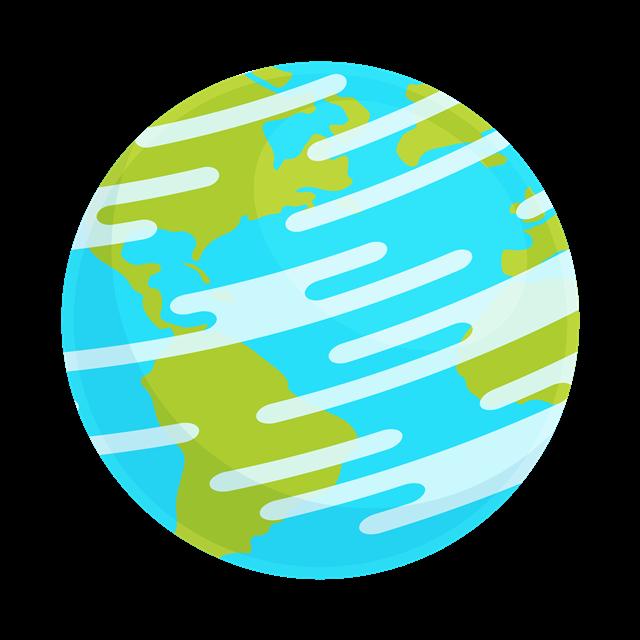 手绘地球元素