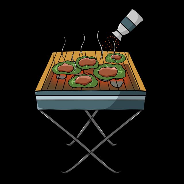 烧烤美食矢量图