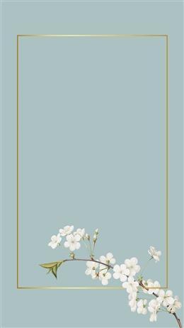 简约花朵边框背景图片