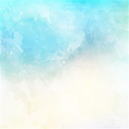 梦幻水彩天空画