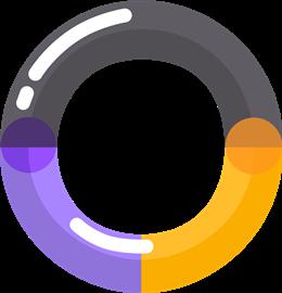 彩色圆形气泡边框
