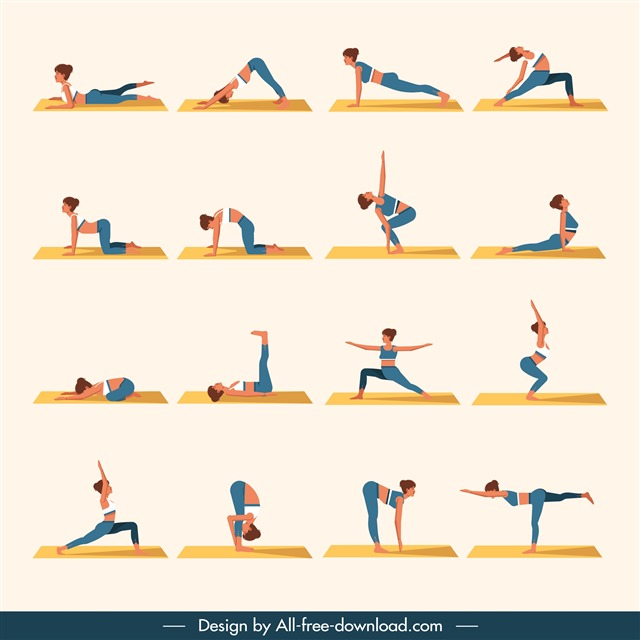 瑜伽基本动作图片