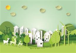 绿色环保文明城市背景图