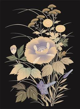 淡雅日式和风花卉背景图片