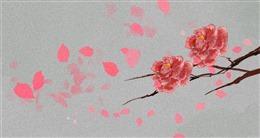 好看粉色花朵背景图片