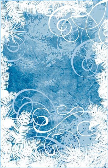松下雪蓝底圣诞节矢量背景图