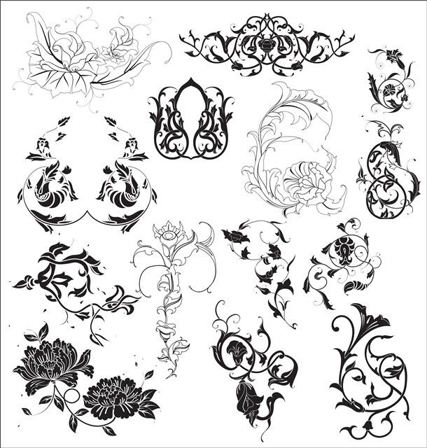 花卉植物纹身图案