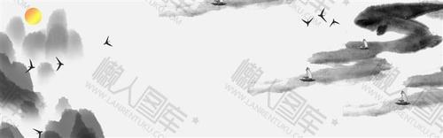 中式水墨画背景图片