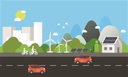 绿色城市背景素材