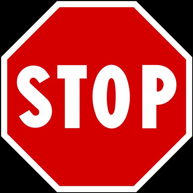 stop交通标志牌