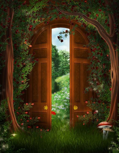 古典森林花园壁纸