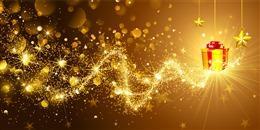 金色粒子科技特效背景