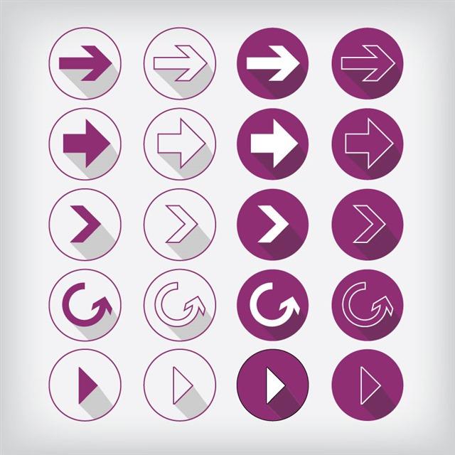 各种箭头按钮图标合集