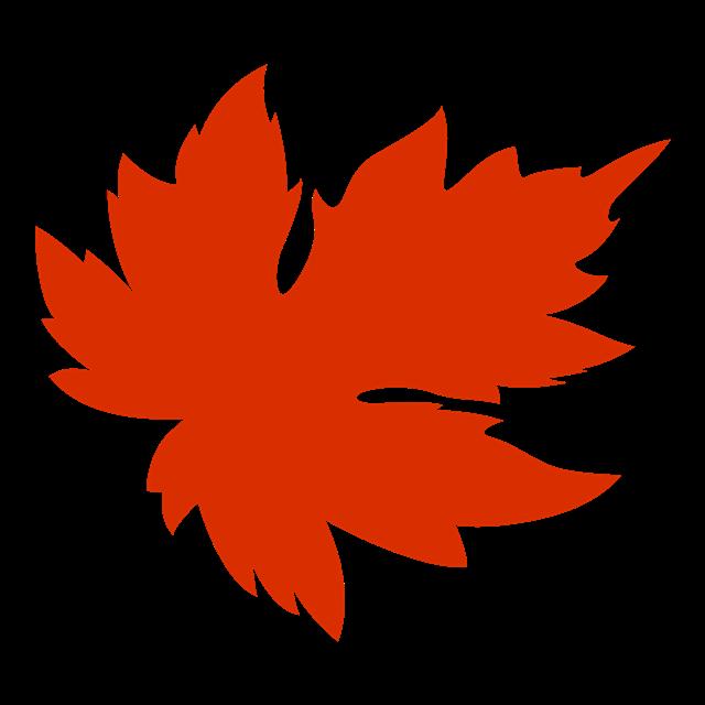 红色彩绘枫叶装饰图案