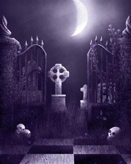 暗夜死亡骷髅头背景图片