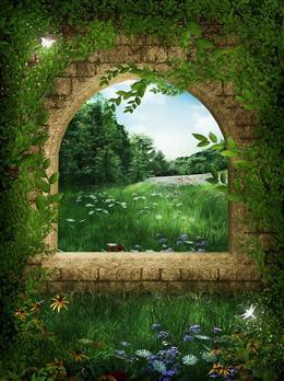 森林童话背景图片