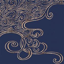蓝色烫金纹理背景图