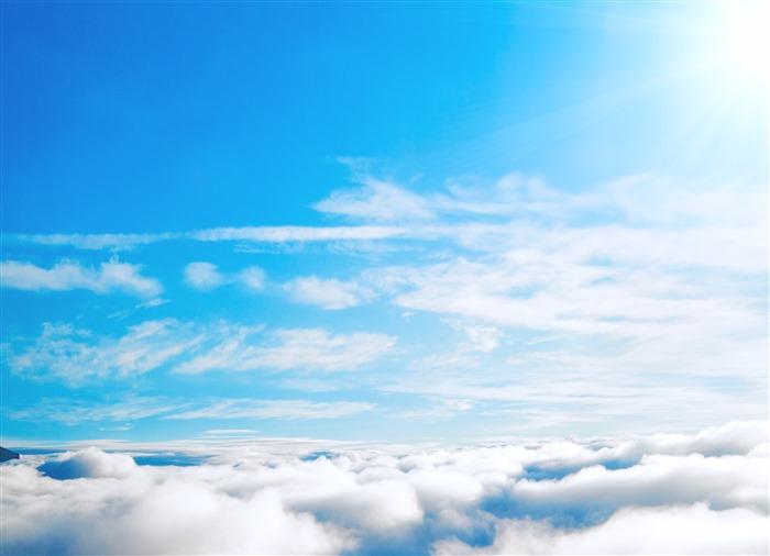 最美蓝天白云背景