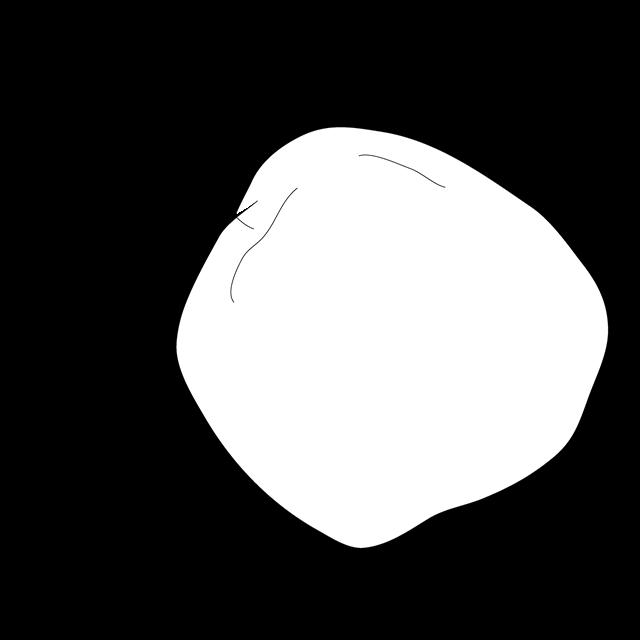 苹果简笔黑白画