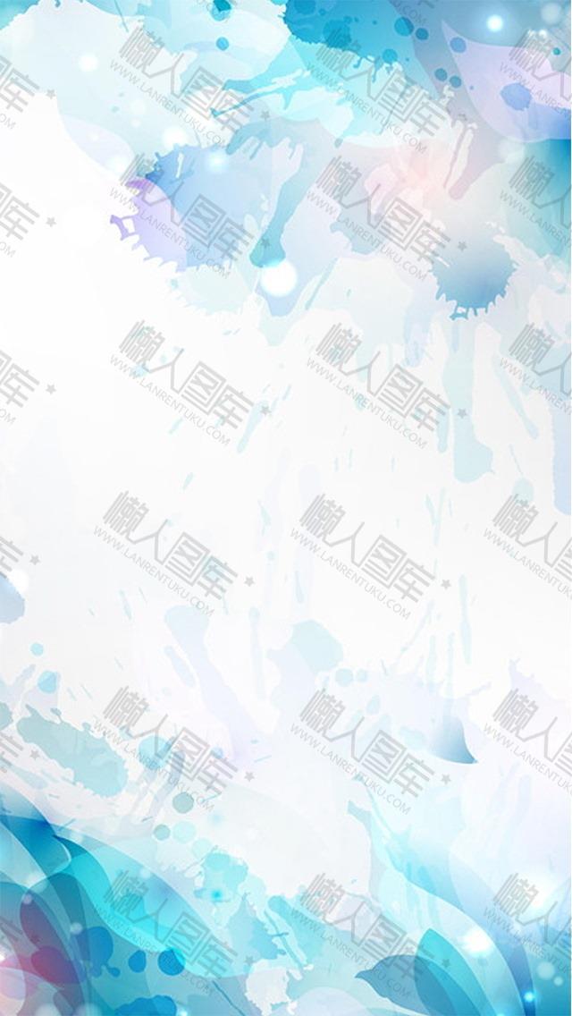 青蓝色水彩背景图片
