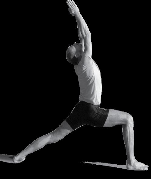战士一式瑜伽图片