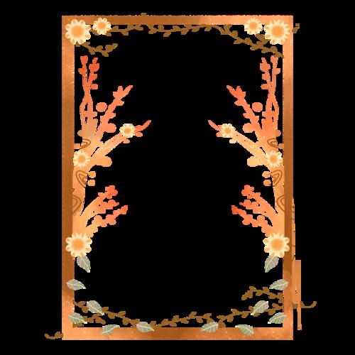 精美秋季树叶边框图片