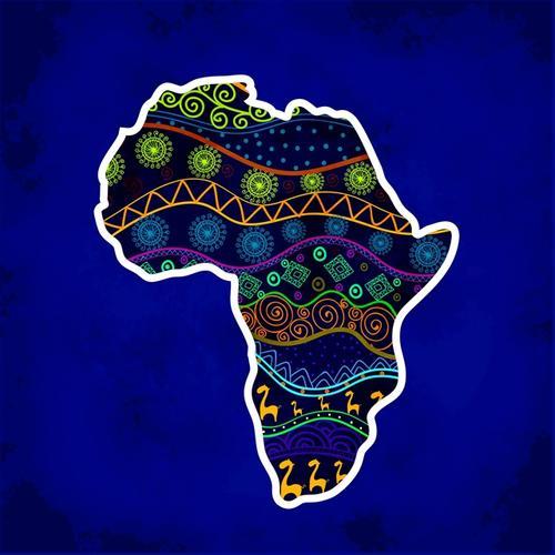 非洲创意地图