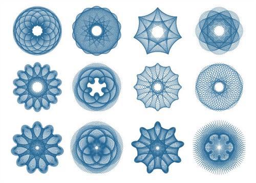 线条纹理不规则图形装饰图案
