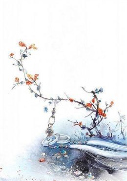 竖屏手绘梅花背景图片