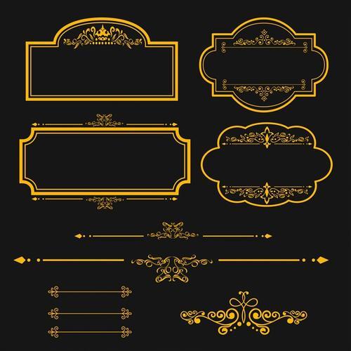 金色奢华复古边框