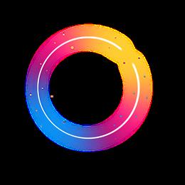 彩色圆形边框