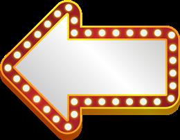 霓虹灯牌指示标