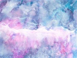 星空渐变水彩画