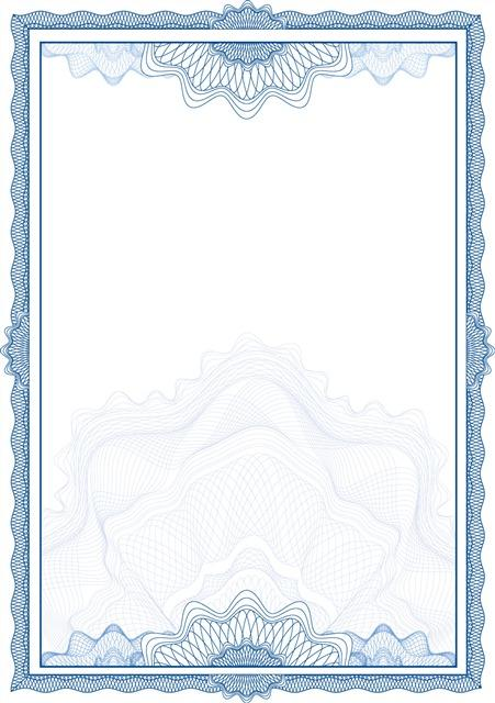 欧式花边边框证书背景
