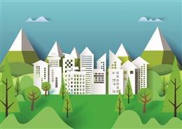 和谐家园绿色文明城市背景
