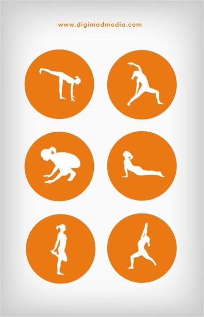 瑜伽logo图标