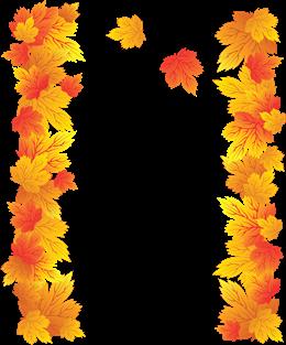 手绘枫叶装饰框免抠图片