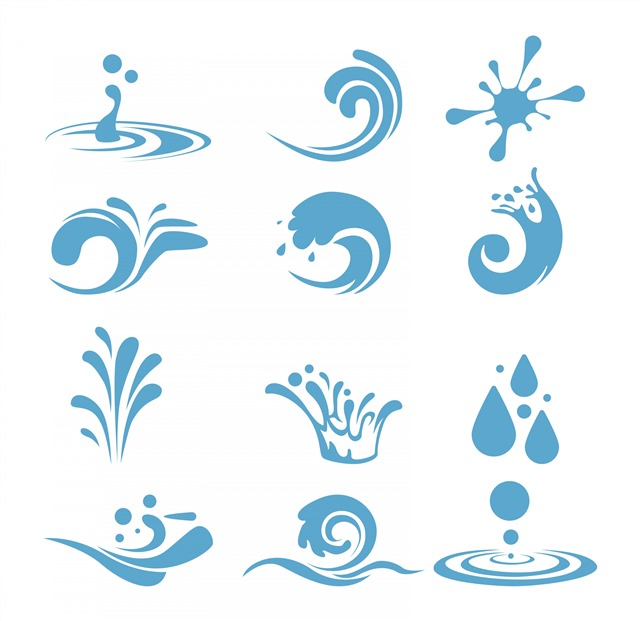 水滴logo图片标志设计