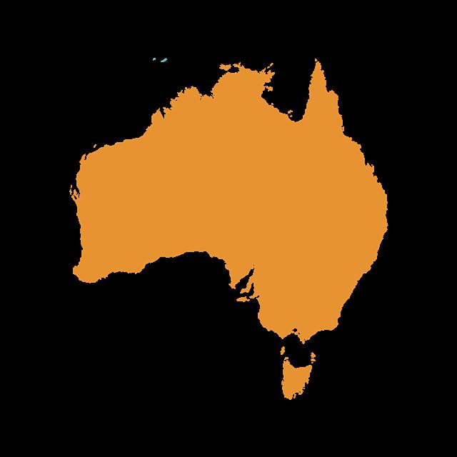 澳大利亚地图矢量图
