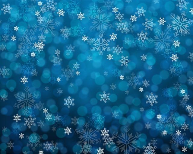 蓝色唯美雪花背景图片